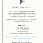 FALCON SIDELINE CHEER CONDITIONING & TRYOUTS!