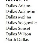 Adamson to be in the new District 12-5A for 2016-2018