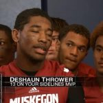 DeShaun Thrower wins WZZM 13 Player of the Week