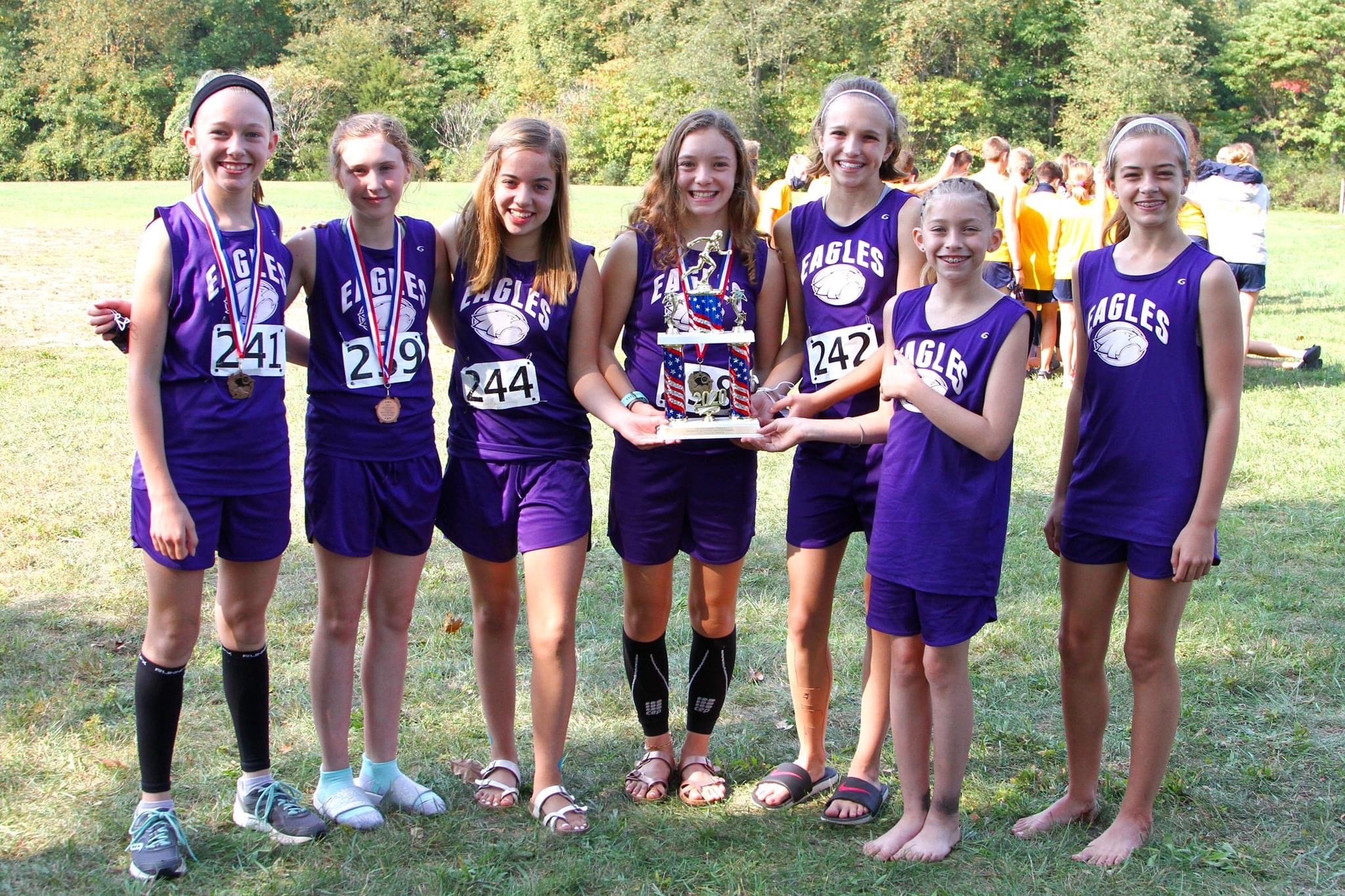 MS Girls XC Wins First Ever Woodland Trail Invite Title