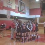 Bangor  Volleyball Varsity beats Lawrence  25, 25-17,22