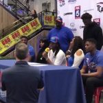 Roswell player participates in football early signing event