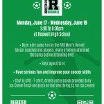 5th Annual Roswell High School Boys Soccer Summer Camp 2019!