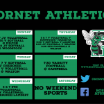 Athletic Schedule for the week