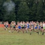 """On your right!"" Cross Country begins their season tonight!!"