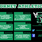 Hornet Athletics for this week