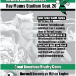 Roswell Youth Night is coming up on September 20th versus Milton!