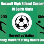 JV Soccer Spirit Night – March 12