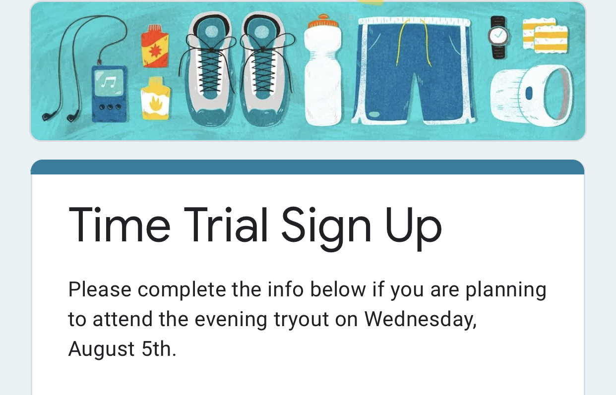 Cross Country Time Trials Sign Up!!!