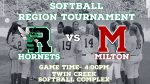 Hornet Softball will resume play in the region tournament today!