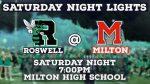 Football Saturday Night versus Milton- Game Day Information