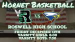 Hornet Basketball at home tonight in region contest versus Etowah