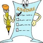 Middle School Track March Schedule