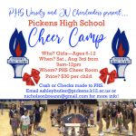 Pickens High School Cheer Camp