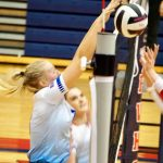 Lady Blue Flame Varsity Volleyball Win Over Powdersville 25-20, 25-20, 25-19