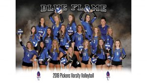 Lady Blue Flame Varsity Volleyball Wins 3-0 Over Daniel, 25-18, 25-15, 25-18 (Photos by Lyndsay Earnhardt)