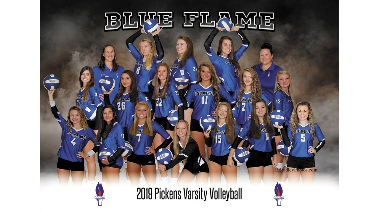 Lady Blue Flame Varsity Volleyball Defeats Powdersville, Plays in Dorman Tournament of Champions