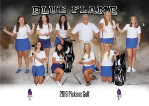 Lady Blue Flame Golf Places Fourth at Upperstate, Qualifying the Young Team for the State Championship in Hilton Head(Photos Courtesy of Alanna Trotter)