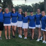 Lady Blue Flame Golf Finishes 8th in the State(Photos Courtesy of Alanna Trotter and Brenda Harkins)