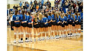 Lady Blue Flame Volleyball Wins Over Eastside, 20-25, 25-16, 20-:25, 25-17, 14-9 to Become Upper State Champions(Photos by Lyndsay Earnhardt)