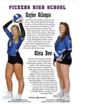 Dow, Gillespie Selected to the All-State Volleyball Team