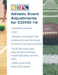 School District of Pickens County Athletic Event Adjustments for COVID-19