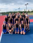 Lady Blue Flame Tennis Pictures