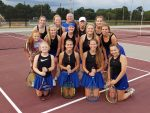 Lady Blue Flame Tennis Defeats Westside and Walhalla