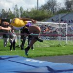 Lady Aviators Second at Aukerman Relays