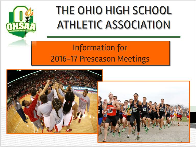 INFORMATION FOR 2016-17 ATHLETIC PRESEASON MEETINGS