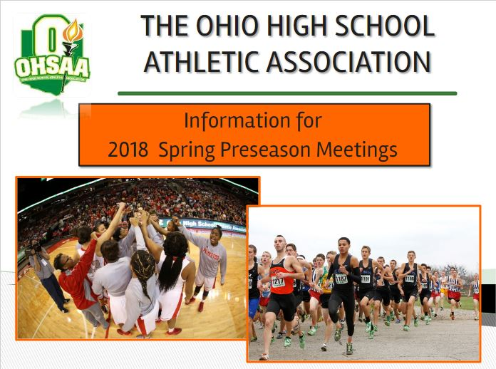 INFORMATION FOR 2017-18 ATHLETIC PRESEASON MEETINGS