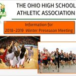 INFORMATION FOR 2018-19 WINTER PRESEASON MEETING