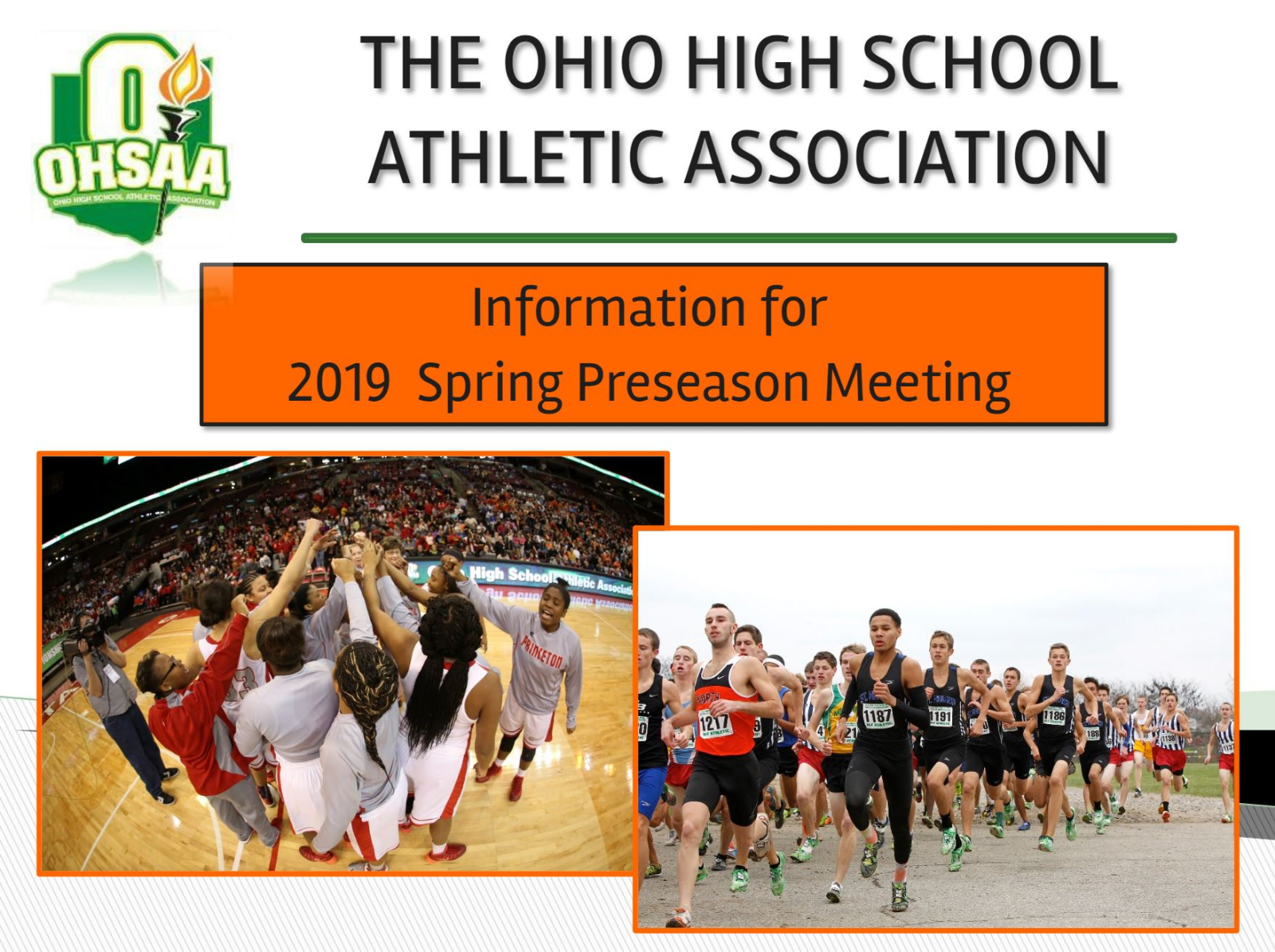 INFORMATION FOR 2018-19 SPRING PRESEASON MEETING