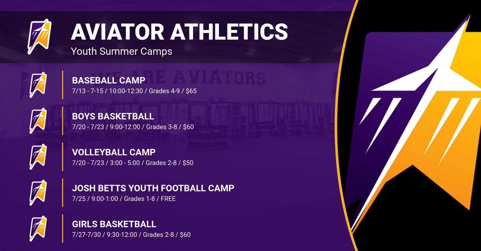 Aviator Athletics Summer Camps