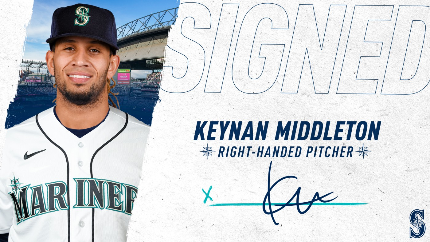 Former Mustang, Keynan Middelton Signs With Seattle Mariners