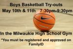 BOYS BASKETBALL TRY-OUTS