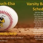 Yellow Jackets Baseball Schedule