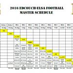 2016 Master Schedule