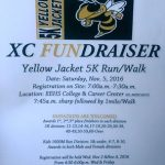 X-Country Fundraiser this Saturday November 5, 2016