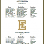 Boys and Girls Varsity Track and Field Schedule