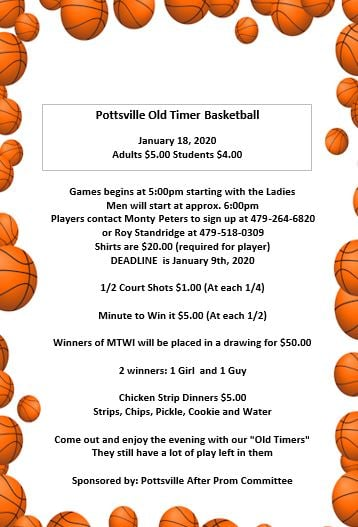 Pottsville Old Timer Basketball Game Info