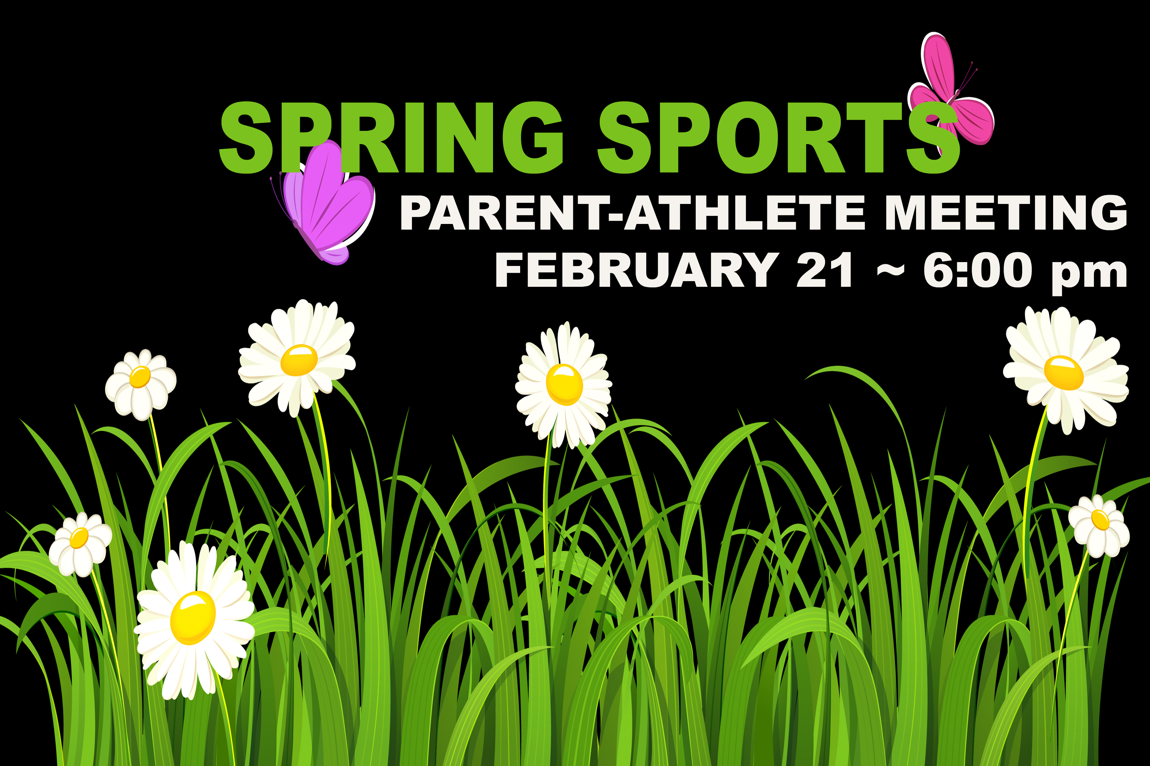 SPRING SPORTS MEETING IS WEDNESDAY NIGHT!