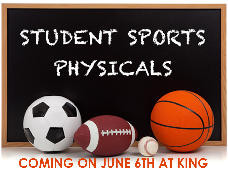 FREE SPORTS PHYSICALS COMING ON JUNE 6