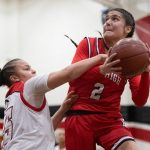 GIRLS BASKETBALL KNOCKS OFF CENTENNIAL IN BIG 8 SHOWDOWN