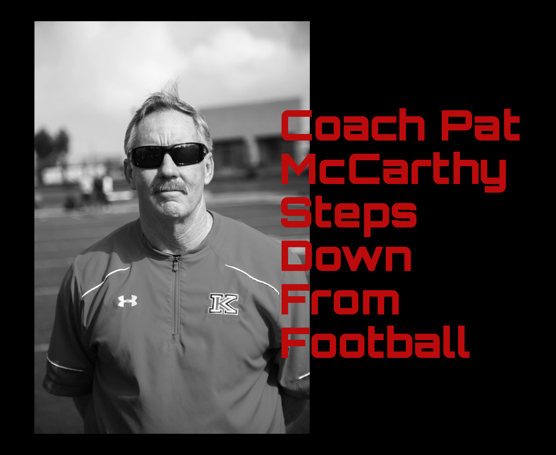 COACH PAT McCARTHY STEPS DOWN FROM FOOTBALL COACHING