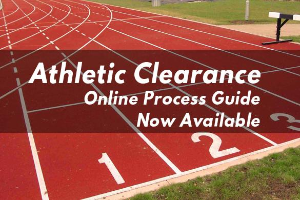 ATHLETIC CLEARANCES ARE NOW FULLY ONLINE