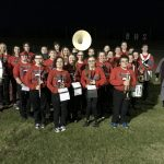 Five Senior Band Members Played at their Last Football Game for the Broncos