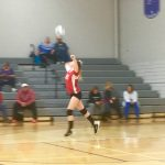 Bellevue Girls Middle School Volleyball falls to Athens High School 2-0