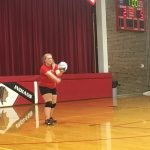 Bellevue Girls Middle School Volleyball beat Tekonsha High School 3-0