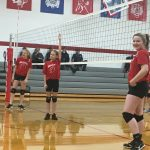 Bellevue Girls Middle School Volleyball beat vs Climax-Scotts HS 2-0